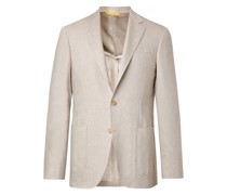 Kei Slim-Fit Unstructured Linen and Wool-Blend Suit Jacket