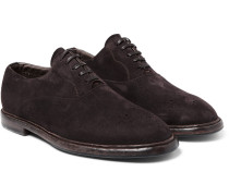 Washed-suede Oxford Shoes