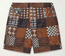 Beach Printed Seersucker Shorts