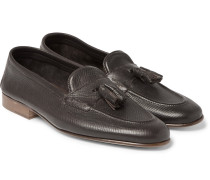 Portland Cross-grain Leather Tasselled Loafers