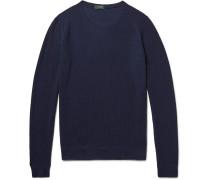 Honeycomb-knit Virgin Wool-blend Sweater