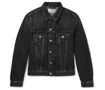 Who Slim-fit Washed-denim Jacket