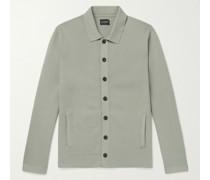 Milano Slim-Fit Cotton-Blend Cardigan