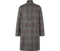 Oversized Checked Wool-tweed Coat