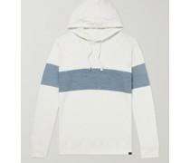 Sunray Printed Slub Organic Cotton-Jersey Hoodie