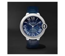 Ballon Bleu de Cartier Automatic 42mm Steel and Alligator Watch, Ref. No. CRWSBB0025