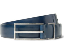 3cm Blue Leather Belt