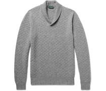Shawl-collar Textured Virgin Wool Sweater