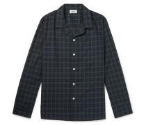 Henry Piped Black Watch Checked Cotton Pyjama Shirt