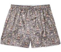 Printed Silk Boxer Shorts