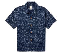 Kahuna Slim-fit Floral-print Cotton Shirt