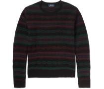 Slim-fit Fair Isle Wool And Cashmere-blend Sweater