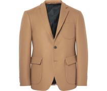 Brown Slim-fit Wool Blazer