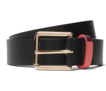 3cm Black Leather Belt