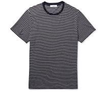 Slim-fit Striped Slub Linen T-shirt