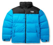Colour-Block Quilted Shell Jacket