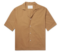 Camp-collar Cotton Shirt