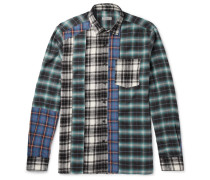 Patchwork Checked Cotton-flannel Shirt
