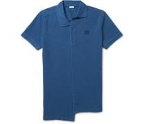 Asymmetric Cotton-piqué Polo Shirt