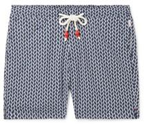 Standard Mid-Length Printed Swim Shorts