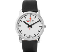 Simply Elegant Stainless Steel And Leather Watch