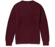 Seed-stitch Cotton Sweater