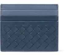 Two-tone Intrecciato Leather Cardholder
