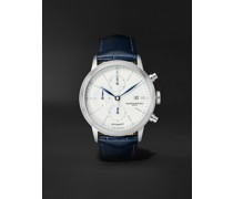Classima Automatic Chronograph 42mm Steel and Alligator Watch, Ref. No. M0A10330