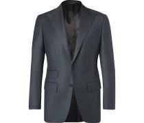 Dark-blue Slim-fit Wool And Cashmere-blend Suit Jacket