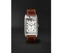 Reverso Classic Large Duoface Hand-Wound 28mm Stainless Steel and Leather Watch, Ref. No. Q3848422