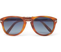Steve Mcqueen Folding D-frame Tortoiseshell Acetate Polarised Sunglasses