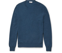 Slim-fit Honeycomb-knit Cashmere Sweater