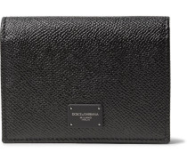 Pebble-grain Leather Bifold Cardholder