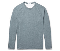 Mélange Cotton-blend Jersey T-shirt