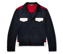 Slim-fit Colour-block Jersey Blouson Jacket