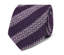 8cm Striped Silk-blend Tie