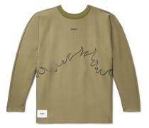 Flammable Logo-Appliquéd Embroidered Cotton-Blend Jersey Sweatshirt