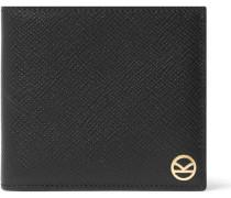 + Smythson Panama Cross-grain Leather Billfold Wallet
