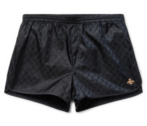 Printed Short-length Swim Shorts