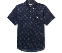 Button-down Collar Polka-dot Cotton Shirt