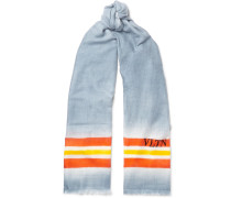 Striped Dégradé Wool, Cashmere And Silk-blend Scarf