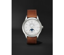 Master Control Calendar Automatic 40mm Stainless Steel and Leather Watch, Ref No. 4148420