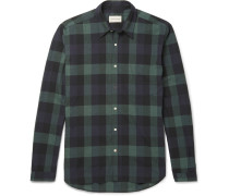 New York Special Slim-fit Checked Cotton Shirt
