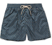 Mid-length Monkey-print Swim Shorts