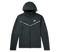 Sportswear Iridescent Logo-Print Tech Fleece Zip-Up Hoodie