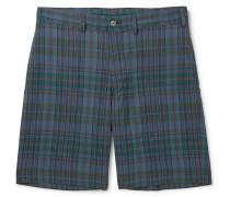 Checked Woven Shorts