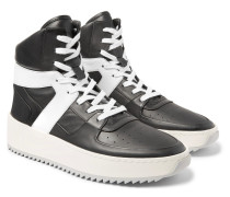 Basketball Panelled-leather High-top Sneakers
