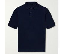Slim-Fit Mélange Linen and Cotton-Blend Polo Shirt