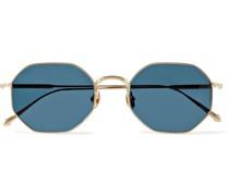 Octagon-Frame Gold-Tone Sunglasses