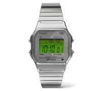 T80 34mm Stainless Steel Digital Watch